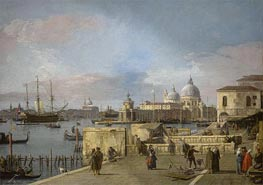 Entrance to the Grand Canal from the Molo, Venice, c.1742/44 von Canaletto | Gemälde-Reproduktion