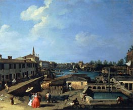 Dolo on the Brenta, c.1720/42 von Canaletto | Gemälde-Reproduktion