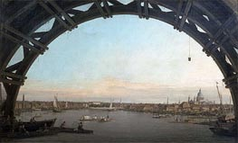 London: Seen through an Arch of Westminster Bridge, c.1746/47 von Canaletto | Gemälde-Reproduktion