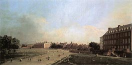 London: The Old Horse Guards from St. James's Park, c.1749 von Canaletto | Gemälde-Reproduktion