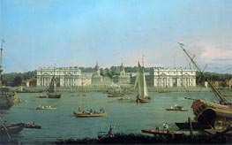 Greenwich Hospital from the North Bank of the Thames, c.1752 von Canaletto | Gemälde-Reproduktion