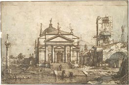 The Church of the Redentore, c.1742 von Canaletto | Gemälde-Reproduktion