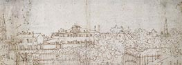 A Panorama of a Village: Sketch of a Building | Canaletto | Gemälde Reproduktion