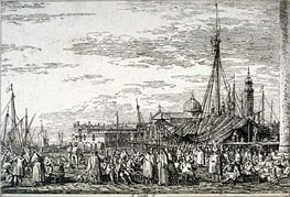 The Market on the Molo | Canaletto | Painting Reproduction