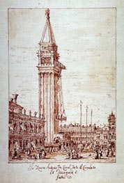 Piazzetta with Campanile under Construction | Canaletto | Painting Reproduction