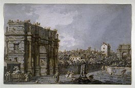 View of the Arch of Constantine and Environs, Rome | Canaletto | Painting Reproduction