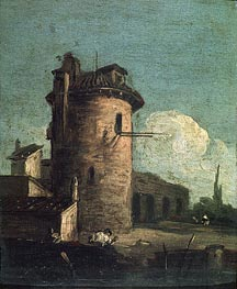 View with Ruins | Canaletto | Painting Reproduction