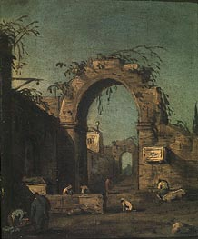 View of an Ancient Doorway | Canaletto | Painting Reproduction