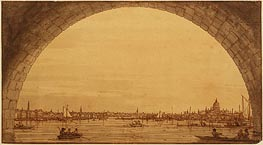 Distant View of St. Paul's Cathedral | Canaletto | Painting Reproduction