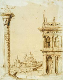 The Piazzetta Looking towards Santa Maria della Salute | Canaletto | Painting Reproduction