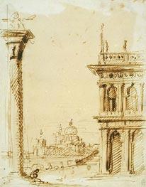 The Piazzetta Looking towards Santa Maria della Salute, c.1726 von Canaletto | Gemälde-Reproduktion