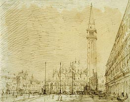 San Marco and the Piazza Looking East, c.1725 von Canaletto | Gemälde-Reproduktion