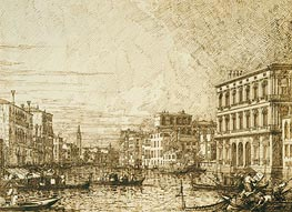A View on the Lower Reaches of the Grand Canal | Canaletto | Painting Reproduction