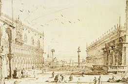 The Piazzetta Looking South | Canaletto | Painting Reproduction