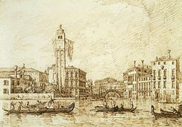 San Geremia and the Entrance to the Cannaregio | Canaletto | Painting Reproduction