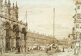 The Piazzetta dei Leoni | Canaletto | Painting Reproduction