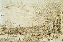 The Bacino Looking West from San Biagio | Canaletto | Painting Reproduction