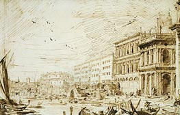 The Molo Looking West, 1729 by Canaletto   Painting Reproduction