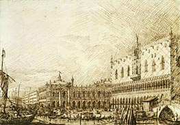 The Palazzo Ducale and Molo Looking West, c.1734 by Canaletto   Painting Reproduction