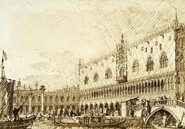 The Palazzo Ducale and Molo, c.1734 by Canaletto   Painting Reproduction