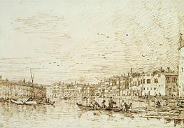 The Upper Reach of the Grand Canal, Looking South, c.1734 by Canaletto   Painting Reproduction