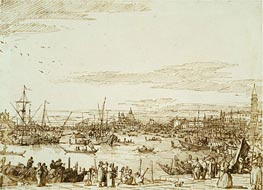 The Bacino Looking West, c.1734 by Canaletto   Painting Reproduction