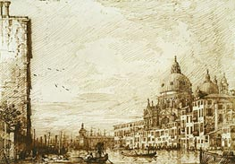 The Lower Reach of the Grand Canal, Looking East, c.1734 by Canaletto   Painting Reproduction