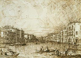 The Central Stretch of the Grand Canal, c.1734 by Canaletto   Painting Reproduction