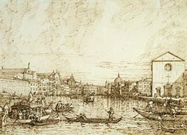 The Grand Canal Looking East from the Fondamenta della Croce, c.1734 by Canaletto   Painting Reproduction