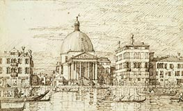 San Simeon Piccolo, c.1735/40 by Canaletto | Painting Reproduction