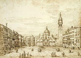 Campo Santa Maria Formosa, c.1735/40 by Canaletto | Painting Reproduction