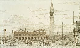 The Libreria, Campanile and Piazzetta from the East, c.1740 by Canaletto | Painting Reproduction