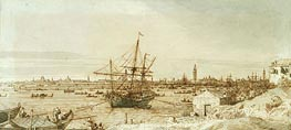 The Bacino from the Punta di Sant'Antonio, c.1740 by Canaletto | Painting Reproduction