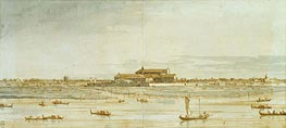 Sant'Elena from San Pietro, c.1740 by Canaletto | Painting Reproduction