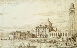 San Pietro di Castello, c.1735/40 by Canaletto | Painting Reproduction
