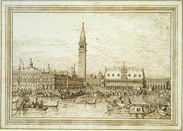 The Molo from the Bacino, c.1740/45 von Canaletto | Gemälde-Reproduktion