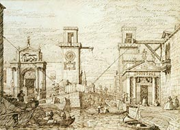 The Entrance to the Arsenale, c.1740/45 von Canaletto | Gemälde-Reproduktion