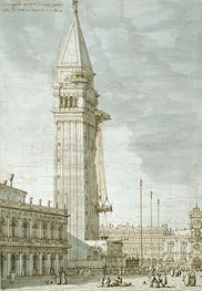 The Campanile under Repair, c.1745 von Canaletto | Gemälde-Reproduktion