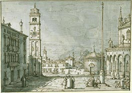 A Capriccio with Santi Maria e Donato, Murano, c.1755/60 von Canaletto | Gemälde-Reproduktion