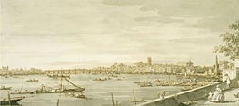 London: A View of Westminster from the Terrace of Somerset House, c.1750 von Canaletto | Gemälde-Reproduktion