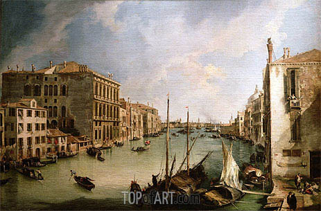 Canaletto | View of Grand Canal from San Vio, Venice, c.1723/24