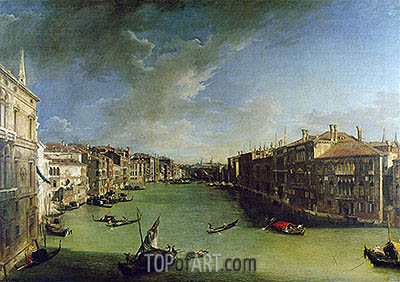 Grand Canal From the Palazzo Balbi, 1724 | Canaletto | Gemälde Reproduktion