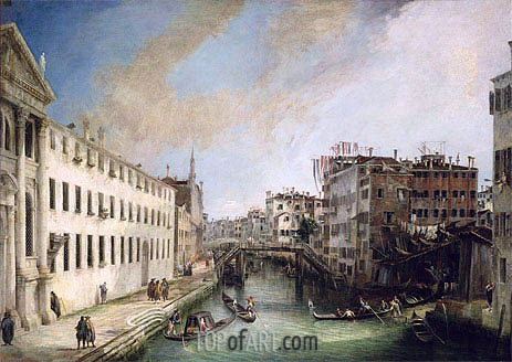 Rio dei Mendicanti, c.1720/25 | Canaletto| Painting Reproduction
