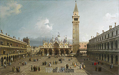 Piazza San Marco With the Cathedral, c.1730/35 | Canaletto | Painting Reproduction