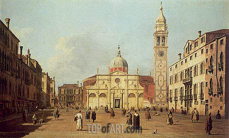 Campo Santa Maria Formosa, 1730 | Canaletto| Painting Reproduction