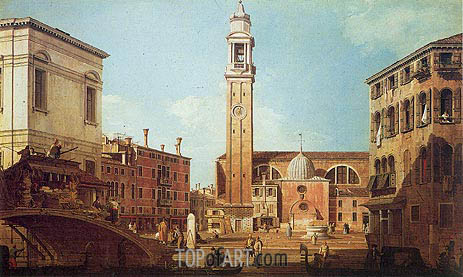 Campo Santi Apostoli, c.1735/40 | Canaletto| Painting Reproduction