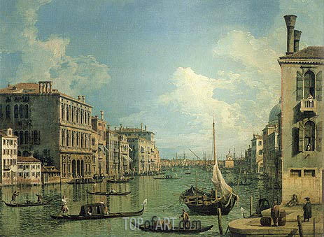 Grand Canal Near the Campo San Vio, c.1730 | Canaletto| Gemälde Reproduktion