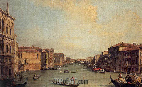 Grand Canal from the Palazzo Balbi, 1735 | Canaletto | Painting Reproduction