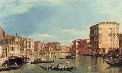 Grand Canal Near Palazzo Bembo & Palazzo Vendramin, a.1730 | Canaletto| Painting Reproduction