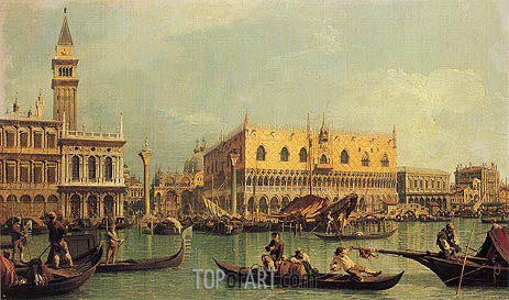 Piazzetta and the Doge's Palace, c.1735/40 | Canaletto| Painting Reproduction